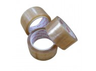 48mm x 66m Vibac Clear Solvent Adhesive Tape 36 Rolls Per Case